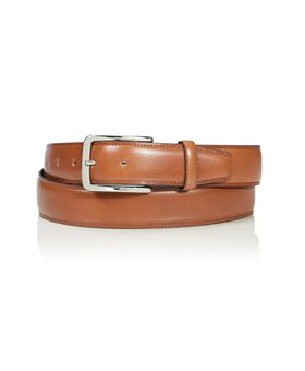 "Contrast Edge Leather Belt 42"" Belts"